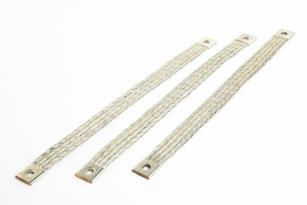 Flat connector copper braids with flat terminals