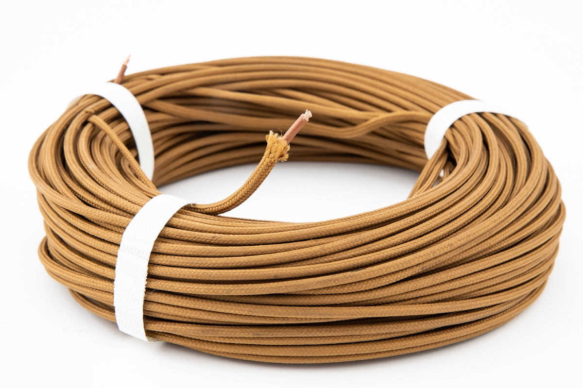 Wires and hoses with textile coating